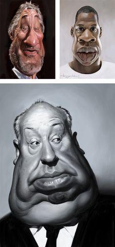 Caricatures by Patrick Strogulski
