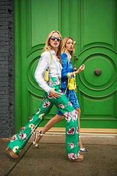 Forget the girls, Look at those doors! Anne V. and Jessica Hart photographed by Tommy Ton