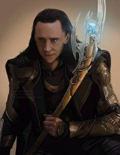 Gorgeous Loki painting!