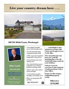 Real Estate at 570,000! Come and view this incredible four bedroom, two full and one half bath, 2462 square foot two story Bear Prairie traditional mountain and valley view home on five acres with a custom shop located at 500 NE 404th Court, Washougal, Washington 98671 in Clark County area 33 which is the Washougal area. The RMLS number is 18241827. It has one gas burning fireplace and a mountain, valley and territorial view. It was built in 1997 and has an attached three car oversized…