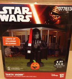 Disney Star Wars Darth Vader Pumpkin Airblown Inflatable Gemmy Halloween Prop