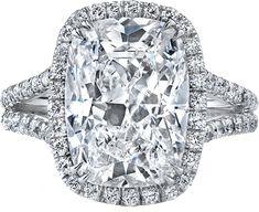 Neil Lane cushion shape diamond and platinum ring