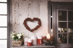 Domov tvoří detaily Christmas Time Is Here, Winter Christmas, Interior Exterior, Christmas Inspiration, Ladder Decor, Valentines, Wreaths, Candles, House Styles
