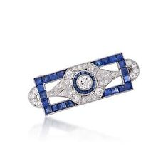 http://www.ross-simons.com/products/774230.html    C. 1990. Vintage 4.50 ct. t.w. Sapphire and 1.85 ct. t.w. Diamond Pin In Platinum
