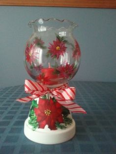 A Candy Jar for any Occasion - Made from Clay Pots Christmas Candle Decorations, Christmas Candles, Christmas Themes, Christmas Holidays, Christmas Ornaments, Christmas Candle Holders, Holiday Themes, Scandinavian Christmas, Clay Pot Projects