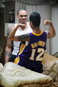 monica and shannon brown - Google Search   Girls who wears basketball jerseys :P <3