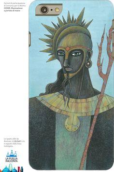 """""""Black Poseidon"""" (ill. di Marco Lorenzetti) per la mostra """"Cover, illustrazione a portata di mano"""", a cura di """"La Puglia Racconta"""". Presso Bitonto Summer Comics."""