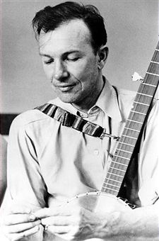 † Pete Seeger (May 3, 1919 - January 27, 2014) American singer and songwriter.