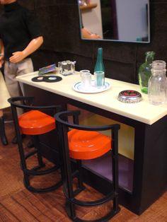 Barbie Doll House GAME ROOM Complete Room Pool Table Bar Ken Trophies Dice Furniture Accessories ooak. $95.00, via Etsy.