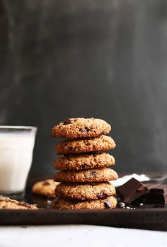 THE BEST EVER Almond Meal Chocolate Chip Cookies with coconut! Crunchy on the outside, chewy on the inside,