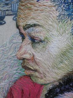 Ruth Miller, hand embroidery. Surface Design Association Member…