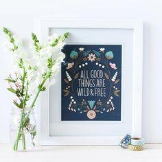 Wild & Free Print  Elizabeth Olwen