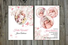 Birth Announcement Template-V09 by Template Shop on @creativework247