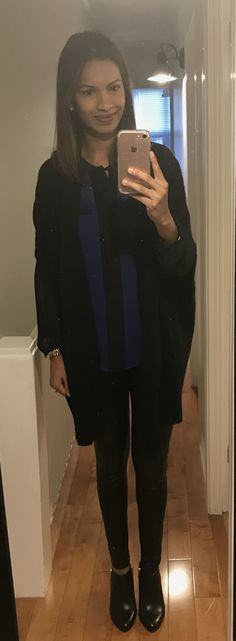 the lighting sucks but these leather look leggings are so much fun! #bananarepublic #vincecamuto