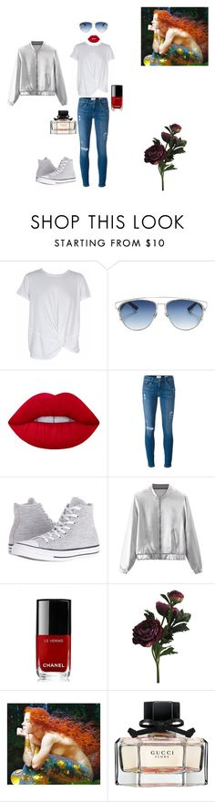 """""""im waiting for you"""" by mihan22 on Polyvore featuring MINKPINK, Christian Dior, Lime Crime, Frame Denim, Converse, WithChic, Chanel and Gucci"""