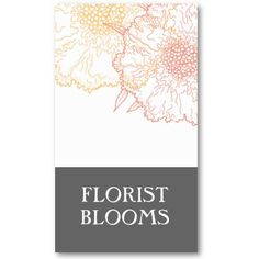 Modern Florist Business Cards Grey Orange Red By CoutureBusiness Logo Fleuriste Entreprise Cartes