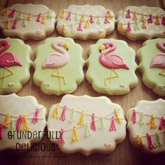 Flamingo Summer - Grunderfully Delicious | Cookie Connection  Flamingo ideas and inspiration