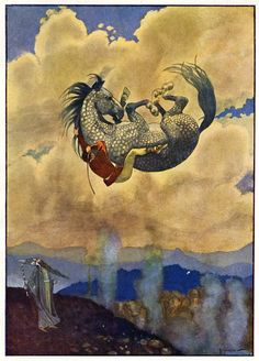 Illus. by Artuš Scheiner for Under Command Of Magic by J. Š. Kubín (1920s)