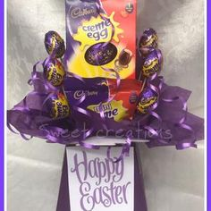 Cadburys Mini eggs Easter Egg Chocolate Bouquet | Etsy Mini Egg Easter Egg, Mini Eggs, Sweet Hampers, Gift Hampers, After Eight Chocolate, Terry's Chocolate Orange, Sweet Trees, Chocolate Bouquet, Chocolate