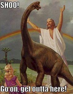 Jesus and his dinosaur