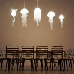 Jellyfish lights. These would be cuter than chandeliers