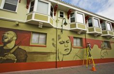 Marvin Plummer's 'Jazz Alley' mural, a coproduction of Kuumbwa Jazz and the City of Santa Cruz.