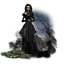 Halloween #16: Queen Of The Damned by xmikky on Polyvore featuring art