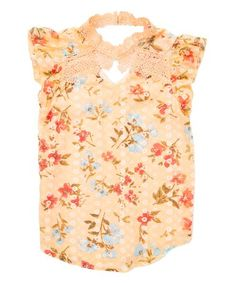 Loving this Coral Floral Flutter-Sleeve Top - Girls on Kids Tops, Top Girls, Flutter Sleeve Top, Color Pop, Floral Tops, Coral, Feminine, Sleeves, Vibrant