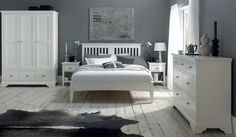 150cm Bedstead Henley White