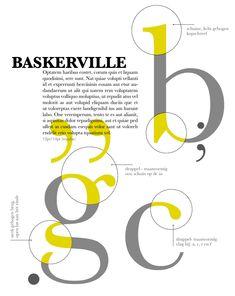 John Baskerville Baskerville 1757 Poster by Bo Van Den Broek 2015b Poster Fonts, Typography Poster Design, Type Posters, Typographic Poster, Typography Letters, Typography Inspiration, Graphic Design Posters, Graphic Design Inspiration, Anatomy Of Typography