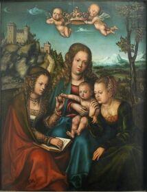 Madonna zwischen zwei weiblichen Heiligen um 1512 - 1514 Werkstatt Lucas Cranach der Ältere Klassik Stiftung Weimar, Museen CRANACH DIGITAL ARCHIVE