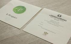 LOGO 2011 / LE PESQUIER Création de l'identité, typographie, cartes et autres matériels de table