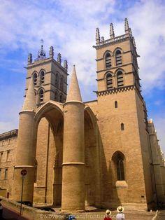 The Cathédrale Saint-Pierre - Montpellier, France Spain Travel, France Travel, Montpelier France, St Peters Cathedral, French Trip, La Grande Motte, Belle France, Excursion, Beautiful Castles
