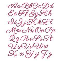 Victoria Script Alphabet Machine Embroidery Font   Designs by JuJu