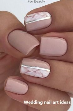 30 Perfect Bridal Nails Art Designs ❤ Whichever type of bride you are. If you are still searching for the perfect bridal nails design, pull totally fresh inspiration from our wedding gallery. Bridal Nails Designs, Bridal Nail Art, Nail Art Designs, Nail Art Design Gallery, Blog Designs, Nude Nails, Pink Nails, My Nails, Pink Manicure