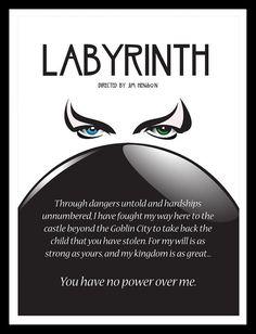 Labyrinth Movie Poster Jim Henson David Bowie by FoxAndDragon, $17.99