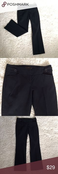 """THE LIMITED Exact Stretch Black pants The most comfortable pants in the world! Exact stretch Bootcut pants. Zipper and tab closure. Inseam 29.5"""". Waist 15"""". Dry cleaned and ready to wear. The Limited Pants Boot Cut & Flare"""