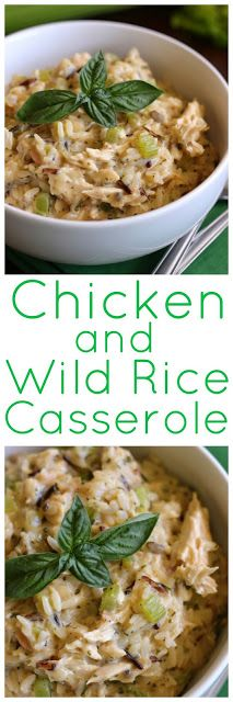 Pat's Chicken and Wild Rice Casserole - This is a family favorite casserole.  The flavors will make you think of Thanksgiving!