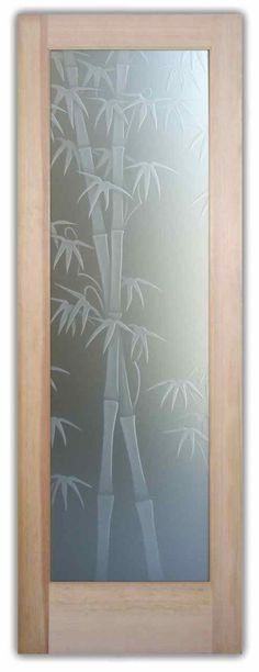 Bamboo Shoots 3D Private Door by Sans Soucie Art Glass! I like the serene, peaceful feeling I get from this design.. I feel like im at a spa!