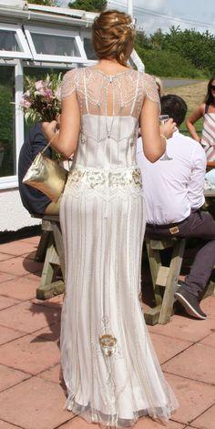 "Jenny Packham ""Eden"" dress in Platinum  #jennypackham  #weddingdress #jennypackhambride"