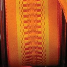 Orange Taffeta with Yellow Woven Print Wired Craft Ribbon 15 x 54 Yards >>> Click image for more details.