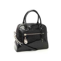 Michael Kors Shiny Snake skin Leather Black Tote Satchel bags women