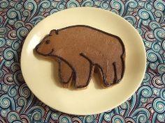 Granola Cookies, made with Ann Clark Bear cookie cutter