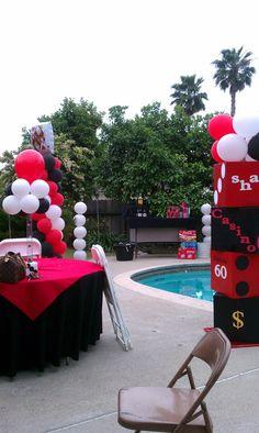 Casino party decor
