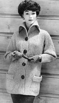 Women's 1960s Vintage Collared Car Coat PDF by KnitsPasse on Etsy