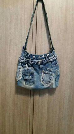 Borsa di jeans fai da te borse pinterest for Borse fai da te jeans