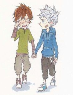 Hiccup with Jack Frost ♡ I give good credit to whoever made this