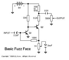 Fuller Suggested Modified Fuzz Face Electronic Circuit Projects, Electronic Engineering, Guitar Effects Pedals, Guitar Pedals, Bass Pedals, Diy Guitar Pedal, Electronics Basics, Audio Amplifier, Fuzz