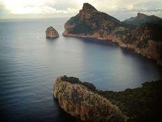 Formentor, situado en los acantilados del extremo norte de la Sierra de Tramuntana (Mallorca - Spain)