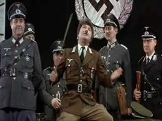 "Springtime for Hitler. Just hilarius! ""We're all germans! So that means that we cannot attack Germany!"" . From Mel Brooks ""The producers""."